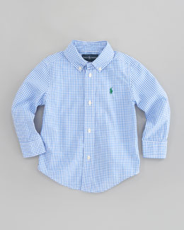 Ralph Lauren Childrenswear Blake Long Sleeve Gingham Shirt, Sizes 2T-7