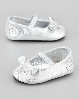 Little Marc Jacobs Baby Mouse Mary Jane Ballet Flat, Silver