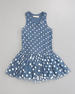 Stella McCartney Belle Dotted Tulle Dress, Blue