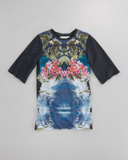 Stella McCartney Hepsie Floral Graphic Tee