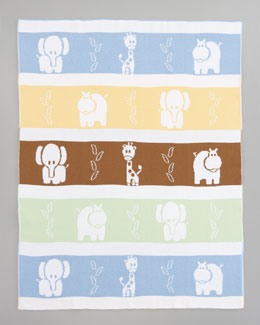 Kissy Kissy Jungle Knit Blanket