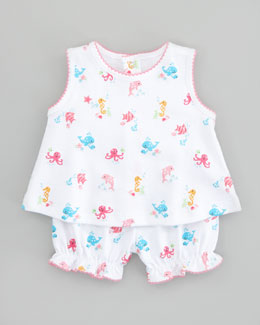 Kissy Kissy Oceans Alive Sunsuit Set