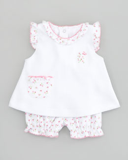 Kissy Kissy Garden Pink Floral Sunsuit Set