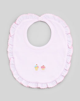 Kissy Kissy Summer Pleasure Ice Cream Embroidered Bib