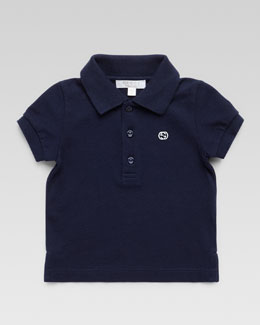 Gucci Short Sleeve Polo Shirt, Navy