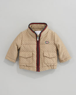 Gucci GG Waterproof Nylon Quilted Jacket
