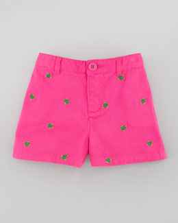 Ralph Lauren Baby Schiffli Embroidered Chino Shorts