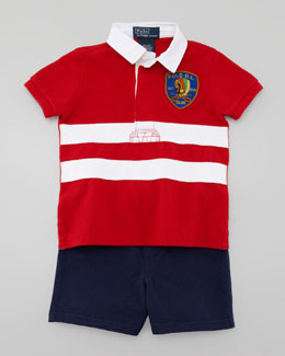 Ralph Lauren Short-Sleeve Rugby Shirt & Short Set