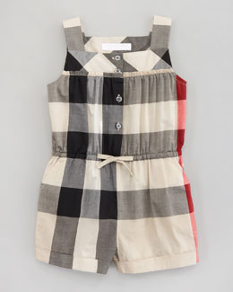 Burberry Check Short Jumpsuit