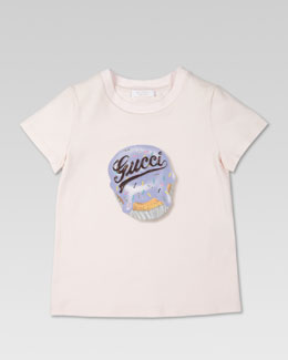 Gucci Gucci Cupcake Tee, Light Pink