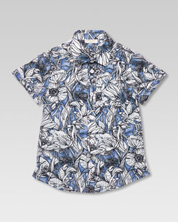 Gucci Floral Button-Down Shirt, Sizes 4-10