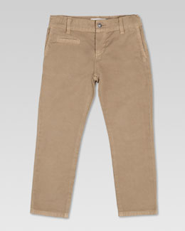 Gucci Washed Cotton Gabardine Pants, Khaki