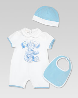 Gucci Gucci Teddy 3-Piece Gift Set, White/Light Blue