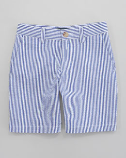 Ralph Lauren Childrenswear Preppy Seersucker Shorts, Sizes 8-10