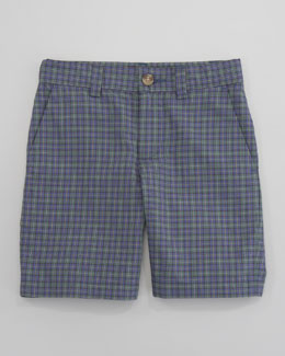 Ralph Lauren Childrenswear Preppy Madras Shorts, Sizes 8-10