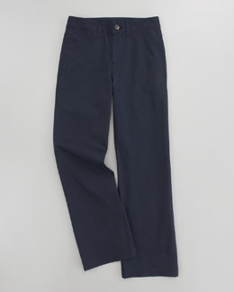 Ralph Lauren Childrenswear Suffield Flat-Front Chino Pant, Aviator Navy