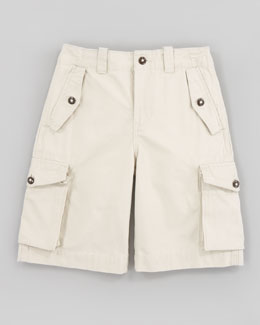 Ralph Lauren Childrenswear Canadian Basic Sand Cargo Shorts, Sizes 8-10