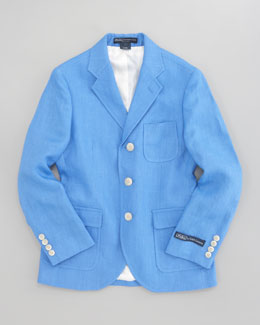 Ralph Lauren Childrenswear Linen Princeton Jacket, Sizes 5-7