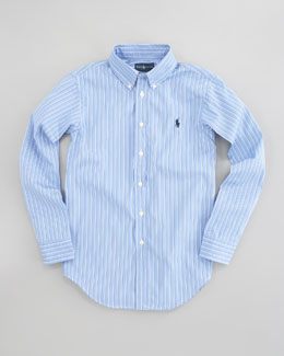 Ralph Lauren Childrenswear Custom-Fit Striped Oxford Shirt, Sizes 8-14