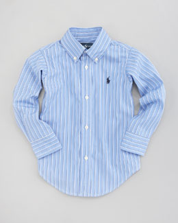 Ralph Lauren Childrenswear Custom-Fit Striped Oxford Shirt