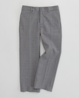 Ralph Lauren Childrenswear Flat Front Woodsman Trousers, Light Gray