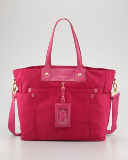 MARC by Marc Jacobs Eliz-A-Baby Preppy Nylon Diaper Bag, Fuchsia
