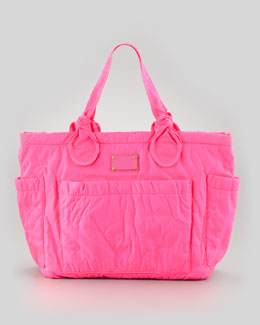 MARC by Marc Jacobs Eliz-A-Baby Pretty Nylon Diaper Bag, Pink