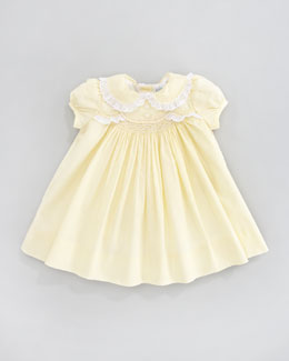 Ralph Lauren Childrenswear Scalloped Smocked Poplin Dress