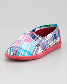 TOMS Resse Madras Plaid Slip-On, Youth