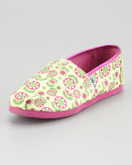 TOMS Floral Glitter Canvas, Youth
