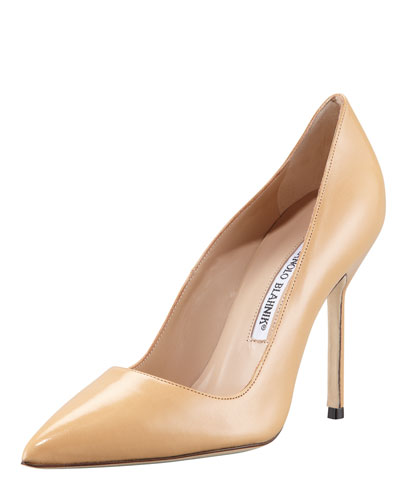 BB Pointed-Toe Pump, Camel