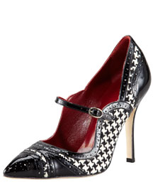 Manolo Blahnik Pointed Mary Jane, 212 872 8947
