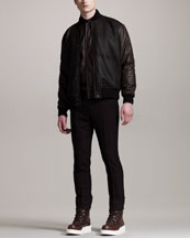 Givenchy Layered Varsity Jacket & Wool Trousers