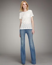 MARC by Marc Jacobs Rhiannon Lace Top & 1970s Flared Jeans