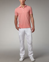 Zegna Sport Tipped Pique-Knit Polo & Slim Cargo Pants