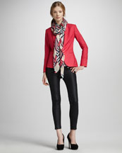 Rag & Bone Sliver Tuxedo Jacket, Coated Denim Leggings & Geo Scarf
