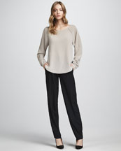 Vince Silk Raglan Top & Relaxed Pants