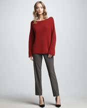 Vince Chunky Boat-Neck Sweater & Cropped Trousers