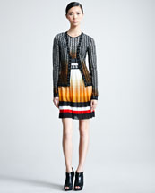 Missoni Ombre V-Neck Cardigan & Sleeveless Dress