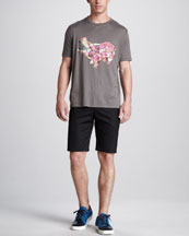 Lanvin Hippo Tee & Cotton Shorts