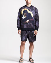 Givenchy Jacquard Gangster Madonna Sweater Pleated Shorts