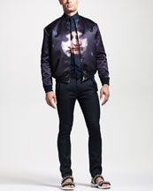 Givenchy Face-Print Bomber Jacket, Tie & Columbian Fit Shirt