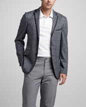 Etro Check Knit Sport Coat & Pegasus Polo