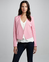 Theory Viviette Cropped Blazer & Jantine Sleeveless Blouse