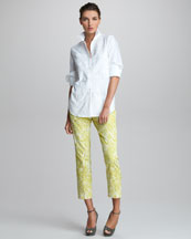Etro Long-Sleeve Embroidered Shirt & Printed Cropped Pants