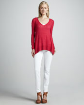 Elie Tahari Sophia Sweater & Deidre Power-Stretch Jeans