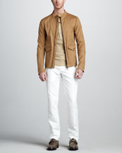 Belstaff Grantley Blouson Jacket, Stambourne Thermal Henley & Lincoln Flap-Pocket Pants