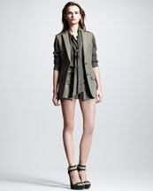 Belstaff Easton Sleeveless Colonial Blazer, Hammond Voile Shirt & Everly Colonial Shorts
