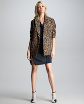 3.1 Phillip Lim Leopard-Print Jacket & Twisted Placket Dress