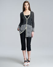 Missoni Long Seagull-Stitched Cardigan & Topstitched Crop Pants